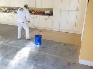 Refinishing A Garage Floor In Apex Nc Witcraft Painting