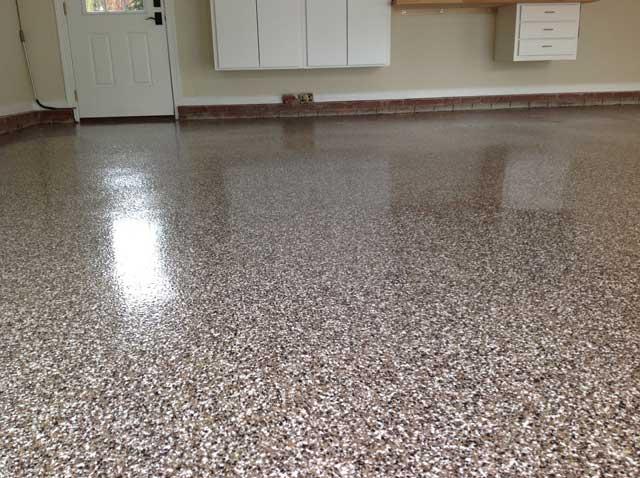 Granite Look Epoxy Garage Floor 1 Preston Village Cary Nc