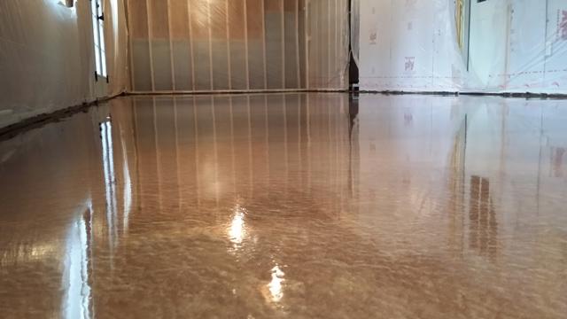 Copper Metallic Epoxy Floor