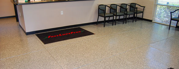 fast lube commercial concrete floor holly springs