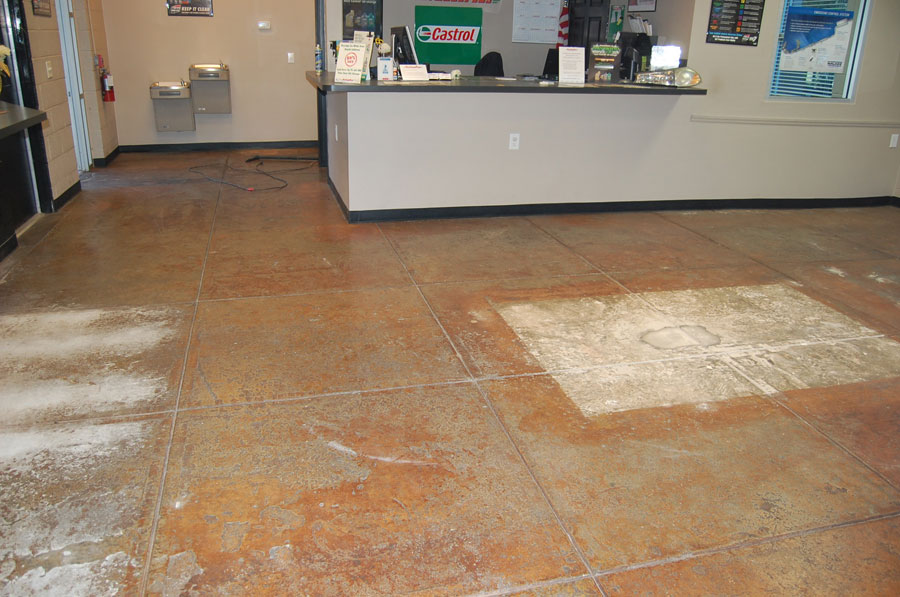 Fast Lube Plus Holly Springs Gray Epoxy Floor By Witcraft