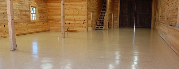 epoxy flake concrete barn floor raleigh