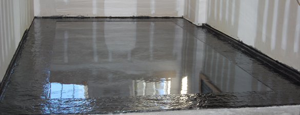 Pauls Garage Metallic Epoxy Floor Stamped Slate