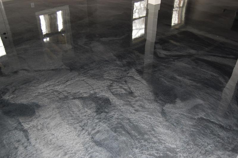 03 16 15 0518 Raleigh Basement Man Cave Metallic Epoxy Floor