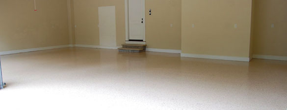 Desert Tan Garage Floor With Earth Tone Flakes North Raleigh