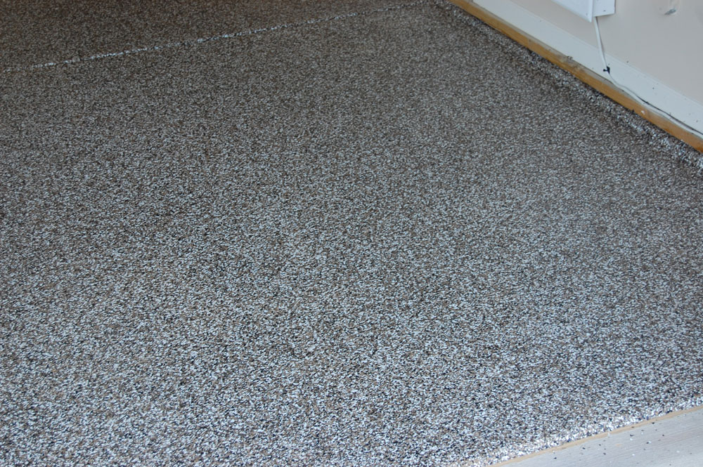 Clayton Garage Floor Full Boradcast Earthtone Epoxy Floor