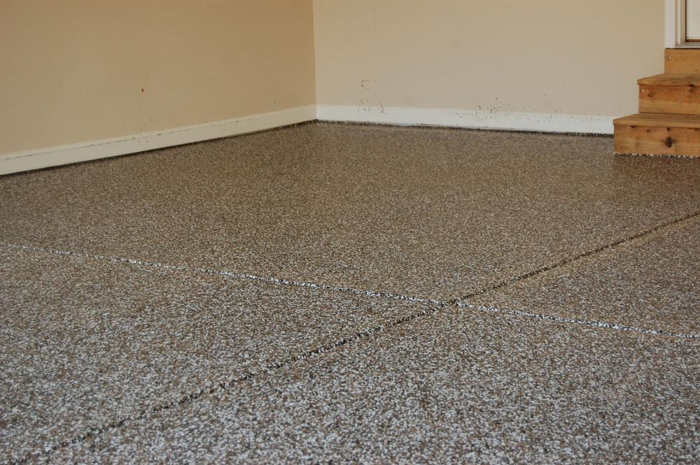 Clayton Garage Floor Full Broadcast Earthtone