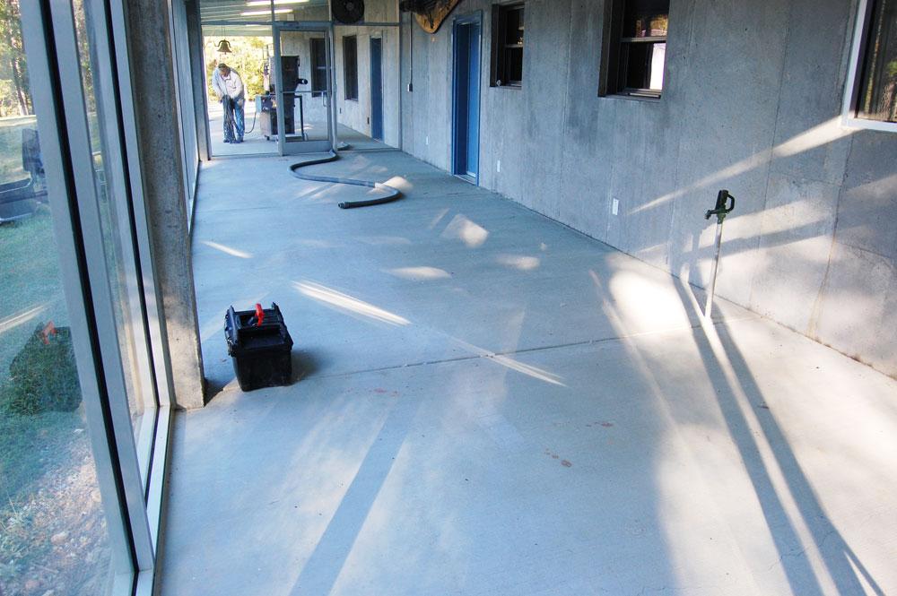 Durham Sunroom Epoxy Metallic Floor