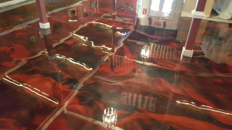 Joes Party Barn Metallic Floor Coatings 4 Raleigh 091816