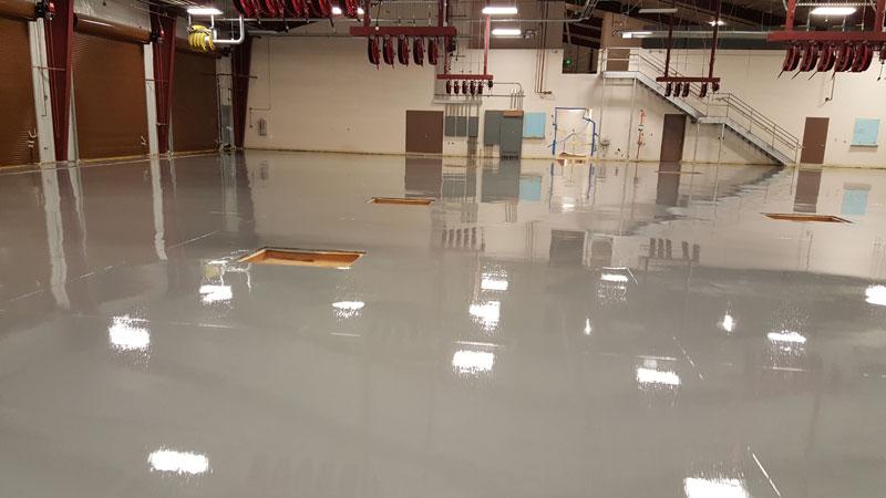 School Bus Repair Shop Epoxy Floor In Pittsboro Nc