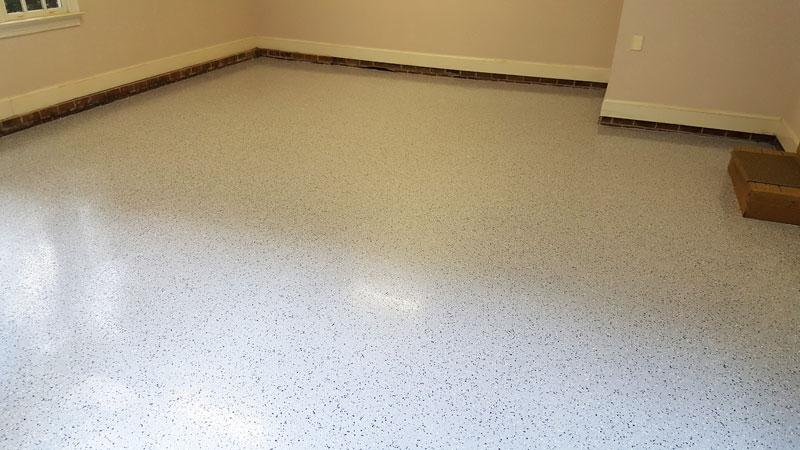 Light Gray Black Flake Garage Floor Chapel Hill Nc