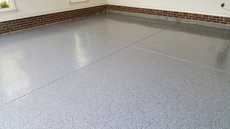 Moderate Broad Black Marble Flake Garage Floor Raleigh NC 03