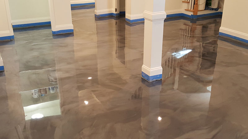 Residential Basement Epoxy Floor In Raleigh Nc Witcraft
