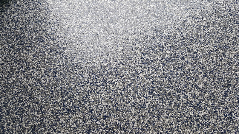 Full Broadcast Garage Floor In Fuquay Varina Nc Blue