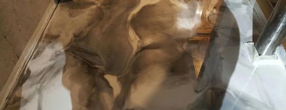 02042017 Raleigh Black White Man Cave Metallic Floor Concrete Coatings FEATURE 585X225