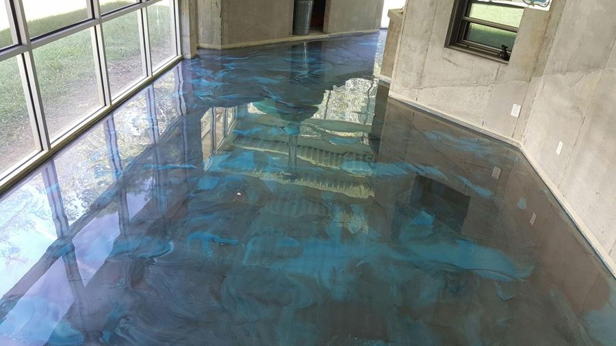 02042017 Durham Silver Blue Metallic Floor Grinding