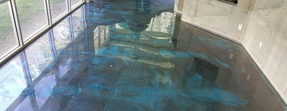 02042017 Durham Silver Blue Metallic Floor Grinding Service Concrete Repair Man Cave FEATURE 585X225