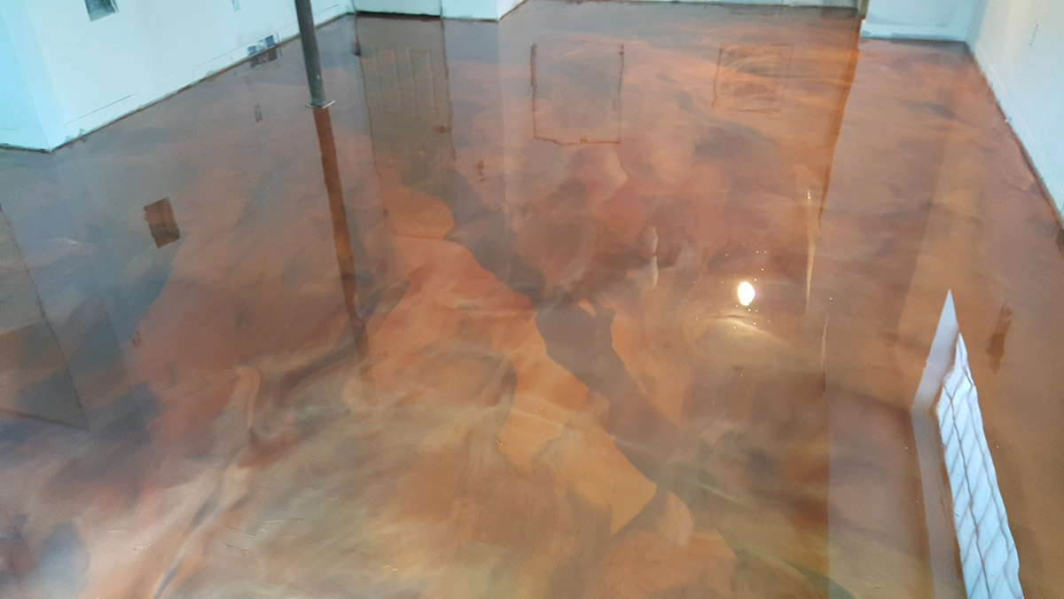05 22 2017 Garner Metallic Basement Concrete Floor  ...
