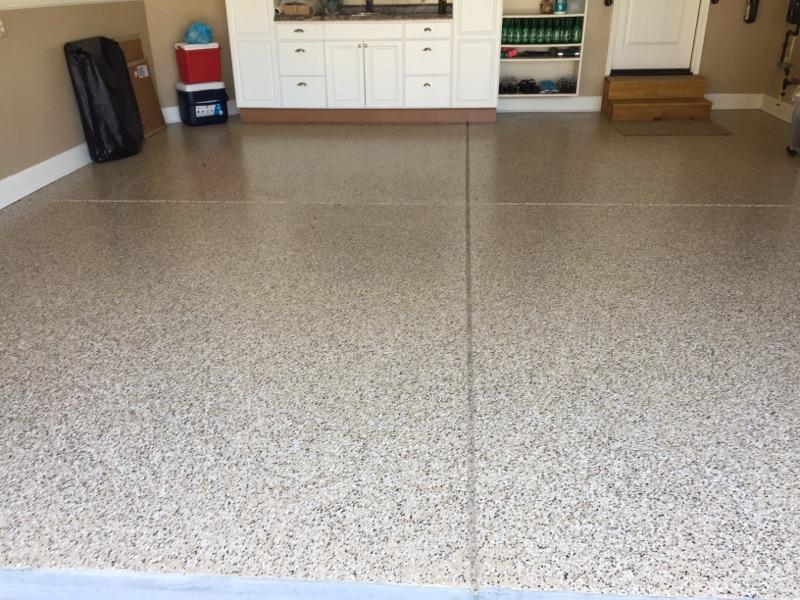 Garage Floor Refinishing Project In, Flooring Apex Nc